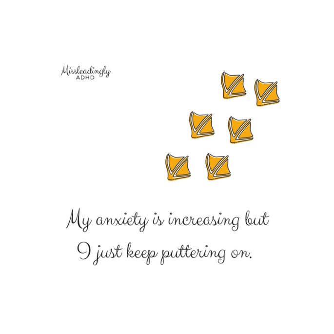 puttering anxiety