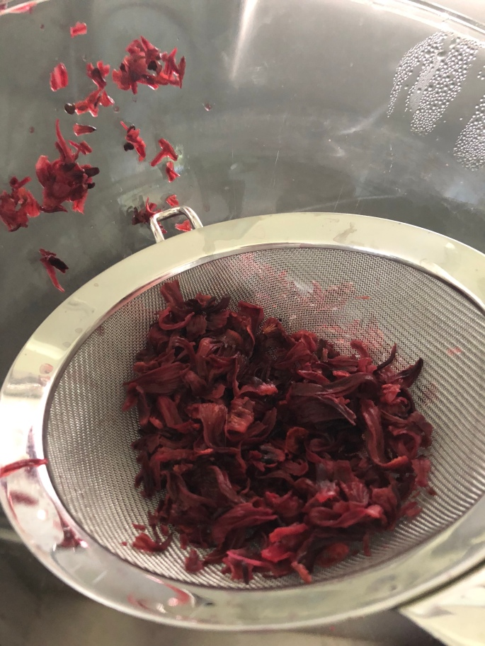 Steep your hibiscus — just like you would if you are making a tea!