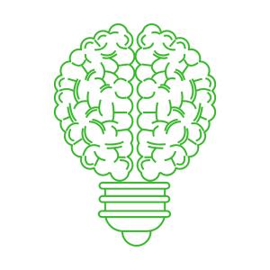 brain lightbulb